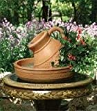 Little Giant 566766 Classic Pitcher Fountain with 70 GPH Pump, Old World Style Hand Finished Portable Water Feature, Raised Leaf Accents, Durable Polyethylene, 16x22 Inches, Terracotta Color
