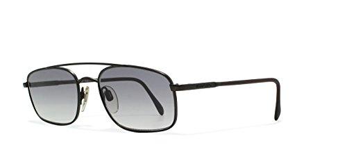 Valentino V459 1331 Black Flat Lens Vintage Sunglasses Rectangular For - Valentino Vintage Sunglasses