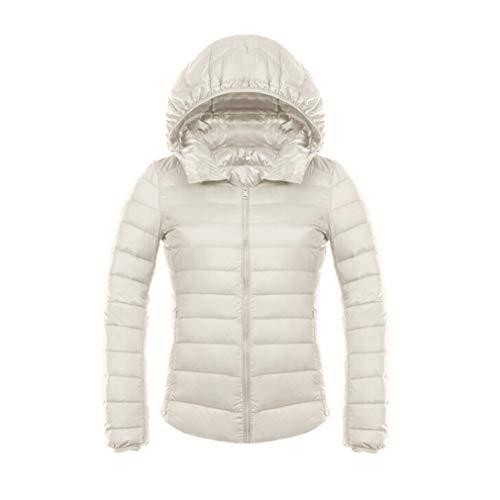 Hooded Fangcheng Giacca Jacket Winter Down Ultra Duck Light Invernale Bianca Donna qRxZAwRrX