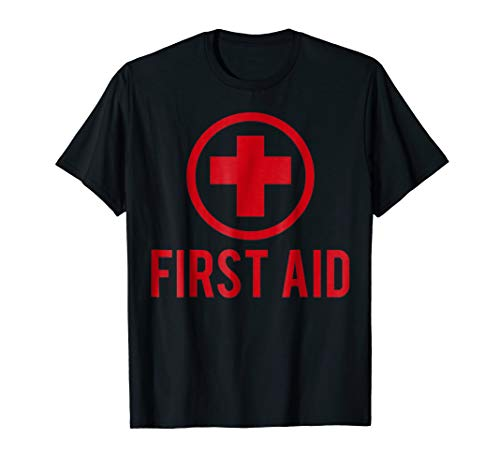 First Aid Shirt Halloween Outfit Gift Paramedic Costume]()
