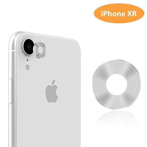 "iPhone XR Camera Lens Protector – TINICR Premium Aluminum Alloy Back Rear Camera Lens Screen Cover Case Shield Compatible for iPhone XR 6.1"" (2018), Silver from TINICR"