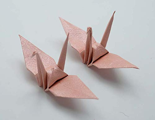 Amazon.com: 1000 Origami Crane in Pink With Rose Pattern 3 ...