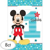 Amscan (Amsdd Disney Mickey's Fun to Be One Folded Loot Bags Party Decoration -