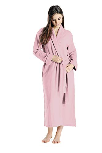 Cashmere Boutique: 100% Pure Cashmere Robe for Women (Color: Rose Pink, Size: Small/Medium)