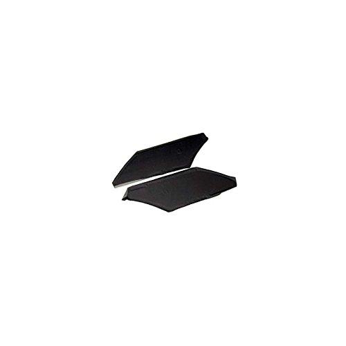 (MACs Auto Parts 6074753 Rear Sail Panels Fastback Black Galaxie)