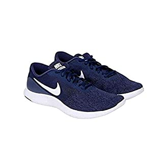 Nike Men's Flex Contact Running Shoe, Midnight Navy/White-Black, 11.5