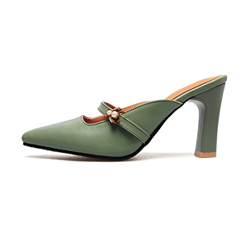 Ladies' Sandals, Retro Baotou, Sandalias y Sandalias green