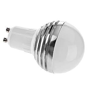 Driver Dimmable GU10 3W 180-210LM 3000-3500K luz blanca cálida LED de bulbo de la bola (220)