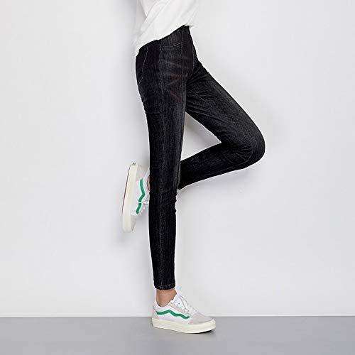 Casual Le 6l Media 6xl Scuro Skinny Grigio Matita Xl Rlwfjxh Per Style L Vita A Size Donn Donne Pieghe Jeans Lunghe Plus Autunno qSnxwHtB