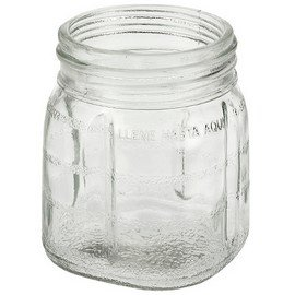 Univen 8 Oz Glass Mini Jar With Lid for Oster & Osterizer Blenders