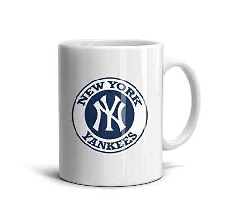 RSEWAW New-York-Yankees-How-to-Make-a-Hologram- Ceramic Mug Durable Coffee Cup Milk School Porcelain Mugs White