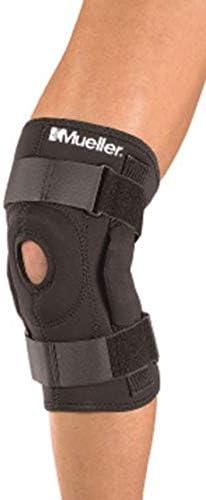 Mueller Extra Lite - Kniebandage zum Wickeln - mit Scharnier - Unterstützung der Bänder - Groß