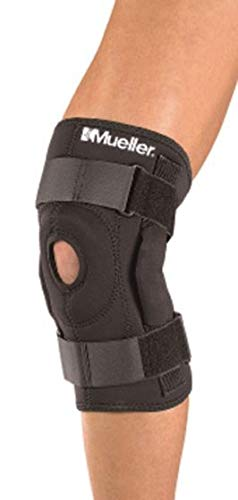 Mueller Sports Medicine Hinged Wraparound Knee Brace, Black, XL (Packaging May Vary)
