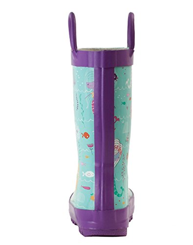 Easy Boots Oakiwear On Mermaids Rain Handles with Rubber Waterproof Kids rqIwqSY