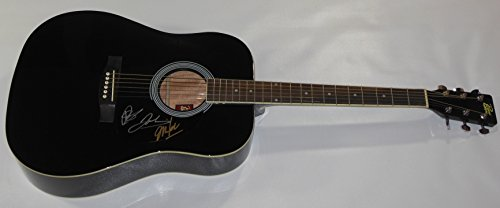 Goo Goo Dolls Dizzy Up The Girl Group Authentic Signed Autographed Full Size Black Acoustic Guitar Loa Girl Collectible Musical Doll