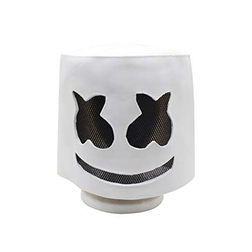 BESTOYARD Zombie Mask Electronic Syllables DJ Headgear Hood Scary Horror Zombie Mask(White)