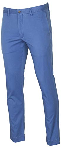 (Polo RL Men's Stretch Slim Fit Pants-Blue-30 X 30)