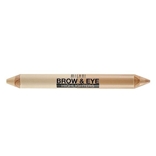 Milani Brow & Eye Highlighter, Matte Beige/High Glow, 0.17 O