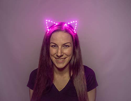It's Lit Designs Premium Light Up LED Cat Ear Headband (Pink)