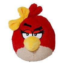 Angry Birds Plush 5-Inch Girl Red Bird with Sound (Angry Birds Red)