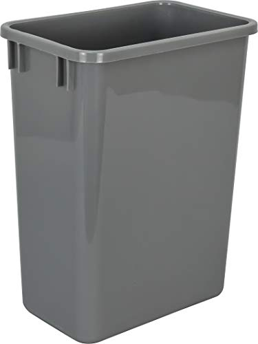 Hardware Resources CAN-35GRY Plastic Waste Container, Gray