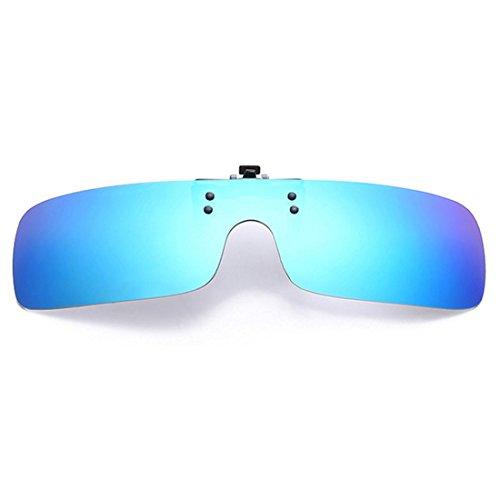 de en Up gafas Azul nocturna día gafas Hombres de gafas sol UV400 sol gafas Retro de polarizadas visión Inlefen Flip miopía Mujeres de Clip Verde I4xqwvWUZR