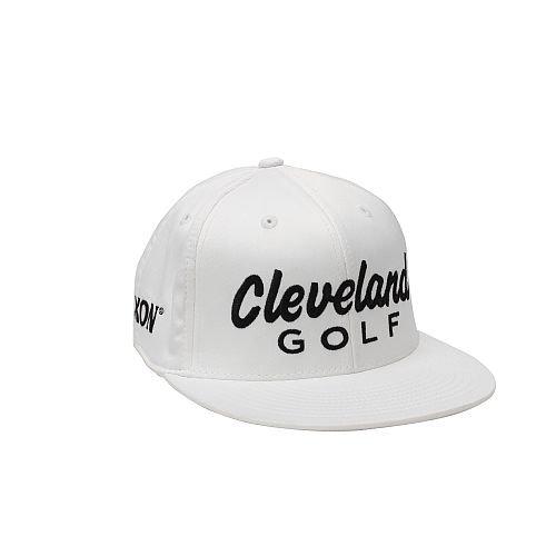 (Cleveland Golf Men's KB Tour Flat Bill Cap, White, Small/Medium)