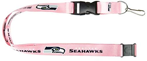 aminco NFL Seattle Seahawks Team Lanyard, Pink