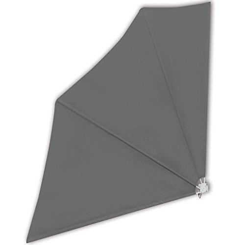 Anself Balkonfächer Sichtschutz Windschutz für Balkone140 x 140 cm Grau