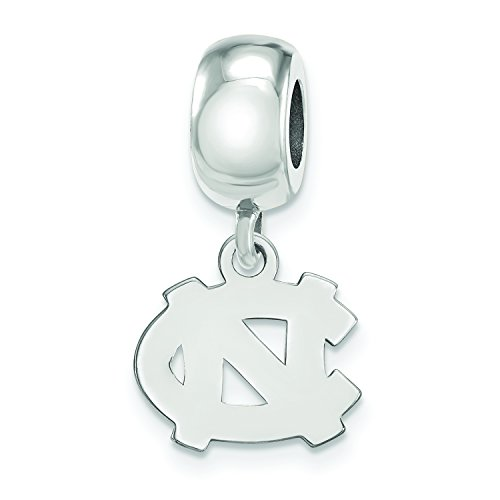 (LogoArt Sterling Silver North Carolina Tar Heels XS Dangle Bead Charm)