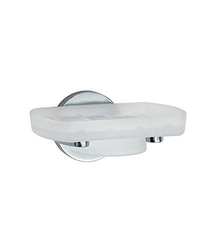Smedbo SME LK342 Holder with Glass Soap Dish, Polished Chrome