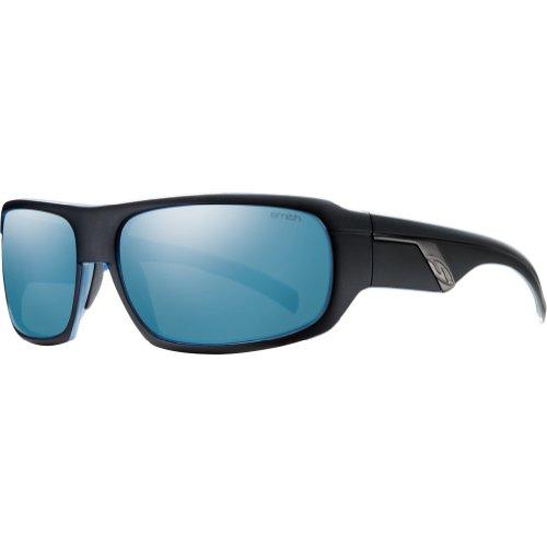 Smith Optics Tactic Premium Lifestyle Polarized Sports Sunglasses - Black with Blue Backpaint/Blue Mirror / Size 61-17-125 by Smith Optics (Image #1)