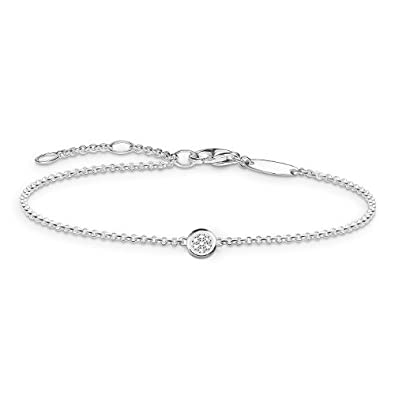 Thomas Sabo Women-Bracelet Glam & Soul 925 Sterling Silver Zirconia white Length from 16.5 to 19.5 cm A1330-051-14-L19,5v