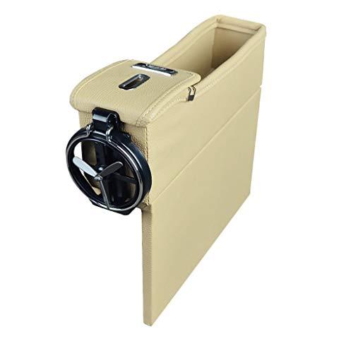 - Berryhot Console Side Pocket Car Seat Organizer Caddy Slit Gap Filler PU Leather Car Seat Gap Filler Car Seat Side Drop Caddy Catcher (F)