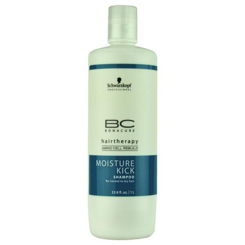 Schwarzkopf BC Bonacure Moisture Kick Shampoo for Normal to Dry Hair 33.8 oz (1 Liter) (Moisture Bc Kick)