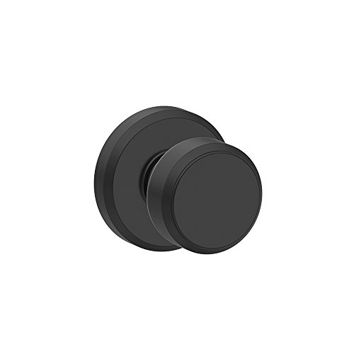 - Bowery Knob with Greyson Trim Non-Turning Lock, Matte Black (F170 BWE 622 GSN)