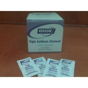 RENSOW Bacitracin Ointment USP (Foil Pack) 144 Box - Case of 12 boxes (1728 total)
