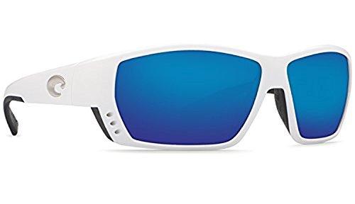 Costa Del Mar TA 25 Tuna Alley White Square Sunglasses for Mens - Size 580G (Blue Mirror Lens) by Costa Del Mar (Image #4)