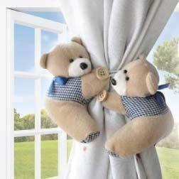 Angelu0027s Hub Raffhalter Mit Süßen Teddybären, Für Vorhänge Im Kinderzimmer,  Kaffeefarben, 2 Stück