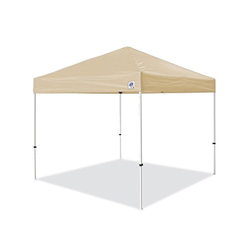 E-Z UP Pyramid Instant Shelter Canopy, 10 by 10', Tan