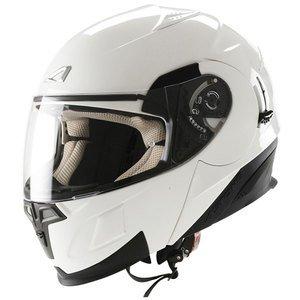 Casco Moto integral Astone GTB blanco azul TG L