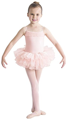 Pink Shimmer Ballerina - Bloch Toddler Desdemona Tutu Leotard, Light Pink-2/4