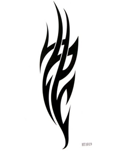 Flame tattoo stickers waterproof male and female black totem tattoo creative DIY Tattoo stickers by King Horse (Flame Tattoo)