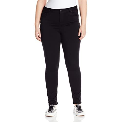 e5209e23a5071a free shipping Celebrity Pink Jeans Women's Plus Size Super Soft Mid Rise  Skinny Jean, Black Rinse, 22W