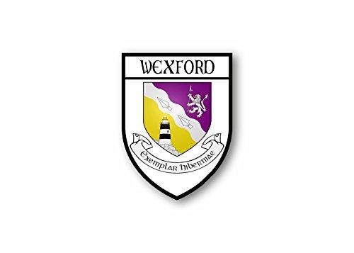 Sticker county shield car vinyl souvenir decal flag caravan crest wexford Akacha