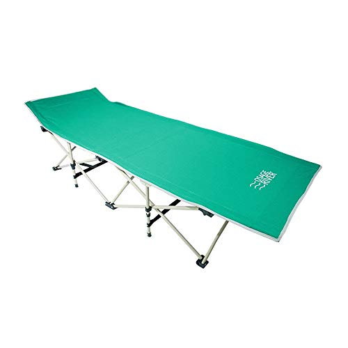 OSAGE RIVER Folding Camping Cot with Carry Bag, Portable and Lightweight Bed for Adults or Kids, Mint Green