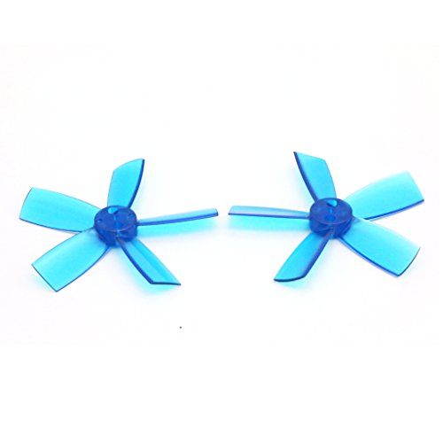 8 Pairs DYS 1735 Propellers 1.7 Inch 5-Blade PC Prop for FPV RC ELF Micro Drone (Blue)