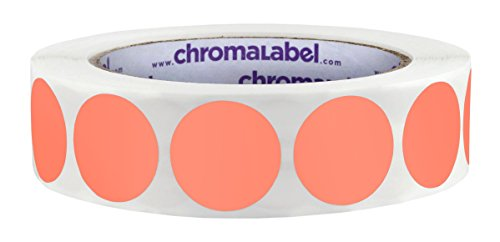 ChromaLabel 1 inch Color-Code Dot Labels | 1,000/Roll (Salmon)