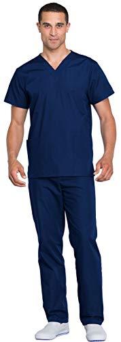 Cherokee Workwear WW530C Unisex Top and Pant Set Navy XL