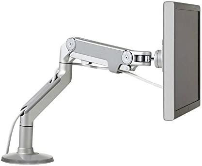 Humanscale Silver Adjustable Monitor Arm Screen Mount
